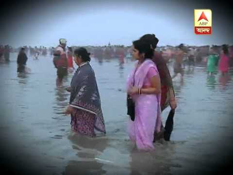 Holy dip in Ganga Sagar during Makar Sankranti