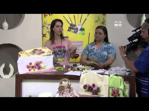 Mulher.com 19/02/2013 Valéria Soares - Orquídea bordado em fitas  parte 2