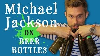 Creative Michael Jackson Cover On Beer Bottles