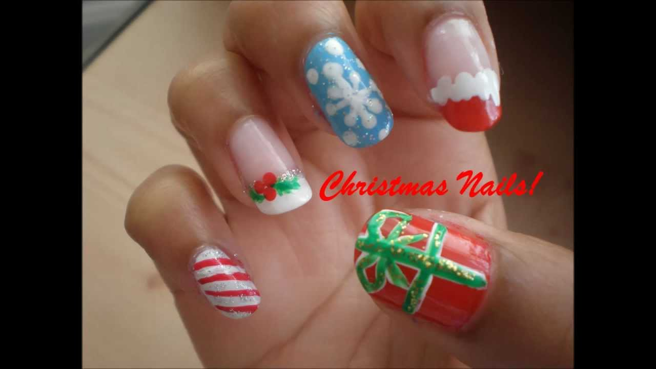 Christmas Nail Art ♡ - YouTube