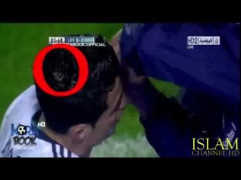 Keajaiban Dunia Lafadz Allah Tertulis di Atas Kepala C Ronaldo Subahanllah WOW Nya Ya Kaka :D