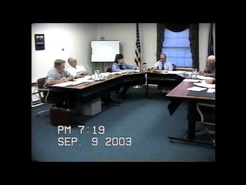 Champlain Town Board Meeting 9-9-03
