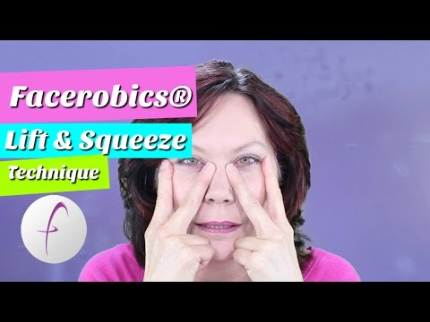 Lift and Squeeze Facial Exercise Technique for Facial Exercise | Learn Face Exercises | FACEROBICS®