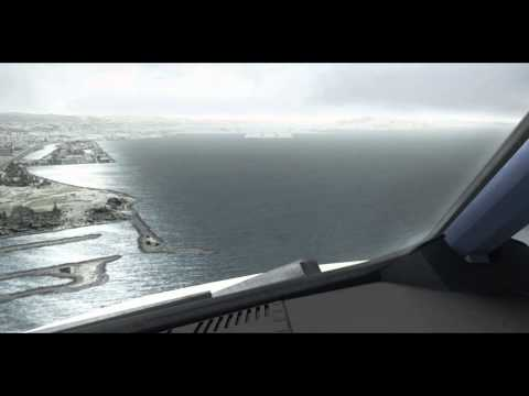 FSX Flight Simulator X HD - Landing A320 KSFO FlightBeam - GTX 590, i7 920 @ 3.8 GHz