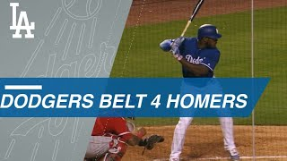 Dodgers' Puig, Hernandez, Seager and Bellinger connect for four long balls