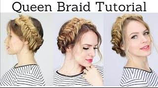 Queen Braid Hair Tutorial | KayleyMelissa