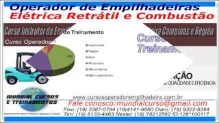 Curso de Operador de Empilhadeiras El�trica Retr�til   - youtube