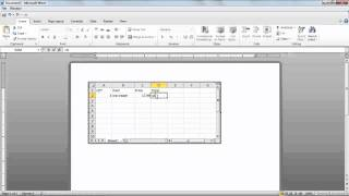 How To Insert An Excel Spreadsheet In Microsoft Word 2010