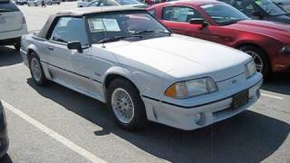 1989 Ford Mustang GT 5.0 Convertible Start Up, Exhaust