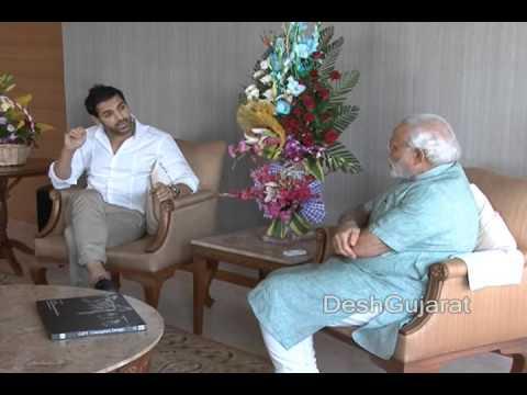 Bollywood star John Abraham meets Narendra Modi in Gujarat capital