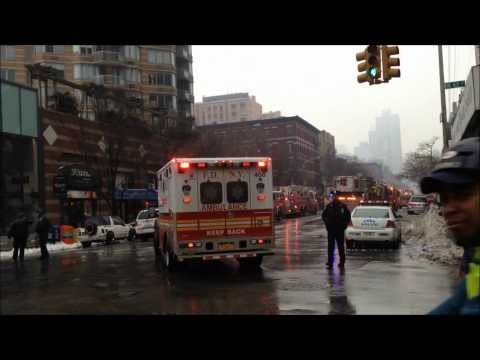 New FDNY ambulance responds to fatal fire