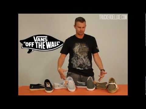 Vans Shoes | Surf Siders Spotlight | TruckerDeluxe.com, The infamous BDawg gives you the lowdown on the latest trends in Men's fashion. This week: a spotlight on Van's Surf Sider shoes. http://www.truckerdeluxe.co...