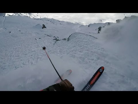 GoPro View: Reine Barkered's Beefy 1st Place Ski Line from Xtreme Verbier