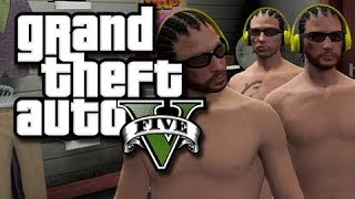 GTA 5 Online Random and Funny Moments! -  Nudist Colony and No Homo!  KYR SP33DY