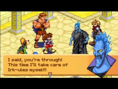 Kingdom Hearts - Chain of Memories - Kingdom Hearts: Chain of Memories - Bosses #3 and #4 Cloud and Hades - User video