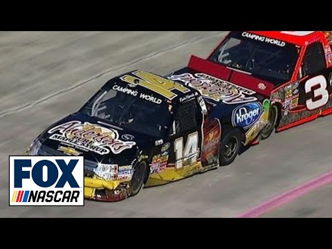 Sledgehammer Thrown at Kevin Harvick After Wreck - NASCAR Trucks Martinsville 2013