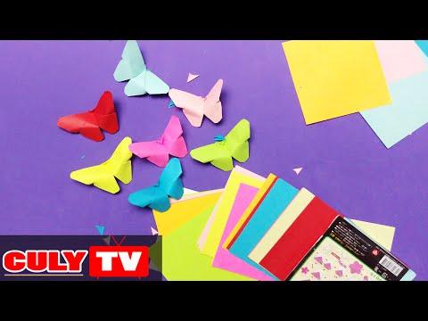 gấp con bướm xinh bằng giấy origami nhiều màu sắc - How to Make an Origami Butterfly