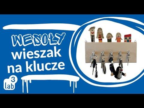 Wesoły wieszak na klucze - www.cudaczek.pl