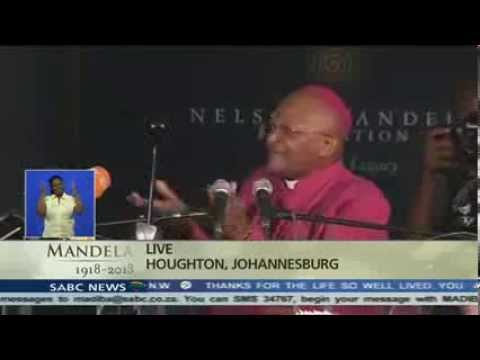 Archbishop Emeritus Desmond Tutu talking about Madiba