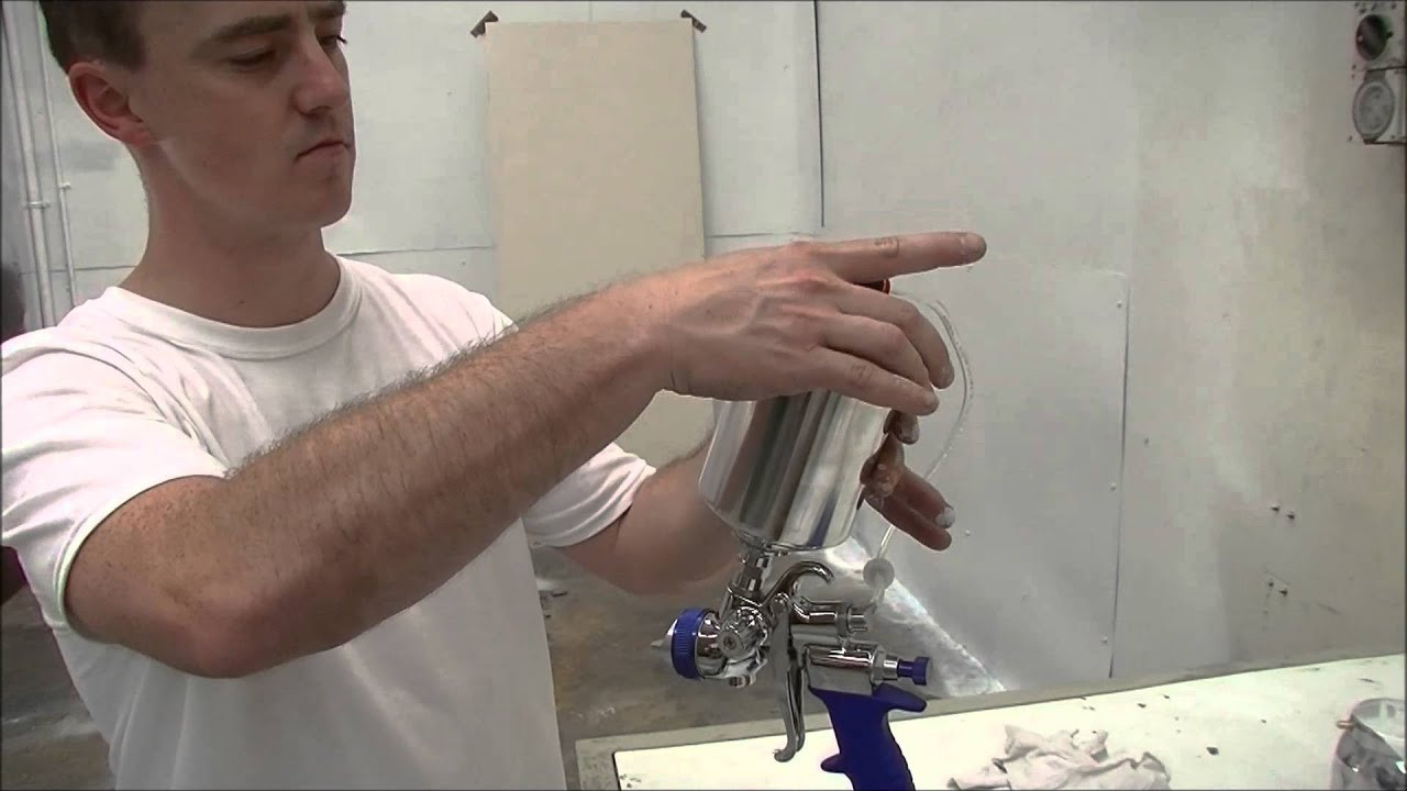 how to use a hvlp spray gun youtube. Black Bedroom Furniture Sets. Home Design Ideas