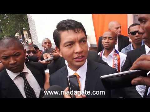 Andry Rajoelina. Mahamasina, 07.02.2014