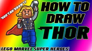 How To Draw Thor From Lego Marvel Super Heroes