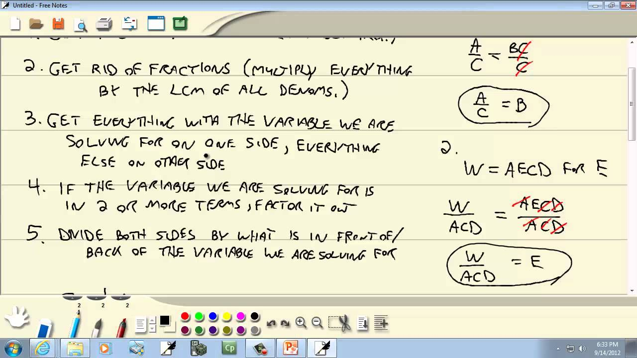 how to solve elementary algebra
