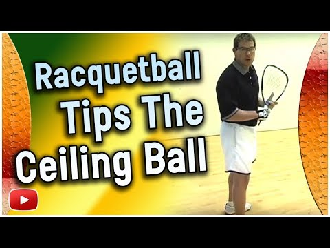 Racquetball Tips - The Ceiling Ball - Marty Hogan (6 U.S. National Championships)