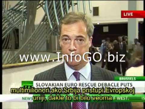 Nigel Farage - Kandidatura Srbije za ulazak u EU je neviđena glupost!