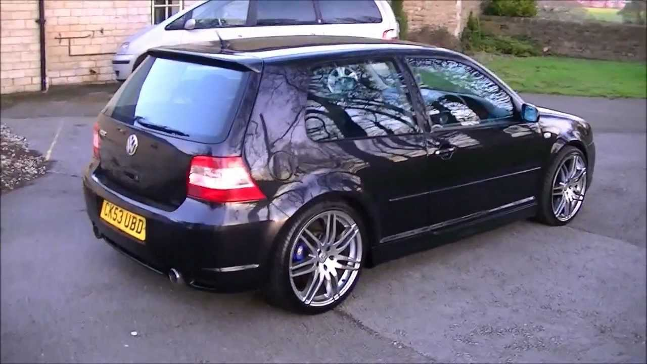vw golf r32 v6 4motion with 19 audi rs4 alloys mk4 2004 hd youtube. Black Bedroom Furniture Sets. Home Design Ideas