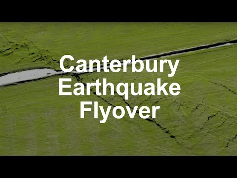 Canterbury Earthquake - first flyover of fault trace