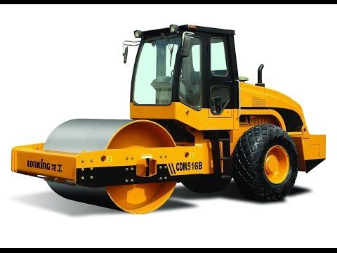Hoạt hình 3D xe lu, máy xúc, cần cẩu làm việc cho các bé ● Cần cẩu, xe tải, máy xúc, máy ủi, xe lu.
