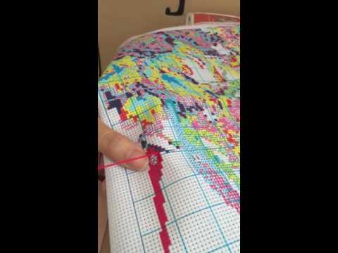 Video hướng dẫn thêu tranh chữ thập theo cách giấu chỉ