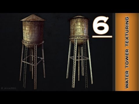 Autodesk Maya 2014 Tutorial  - Water Tower Texturing Part 6 - specular map