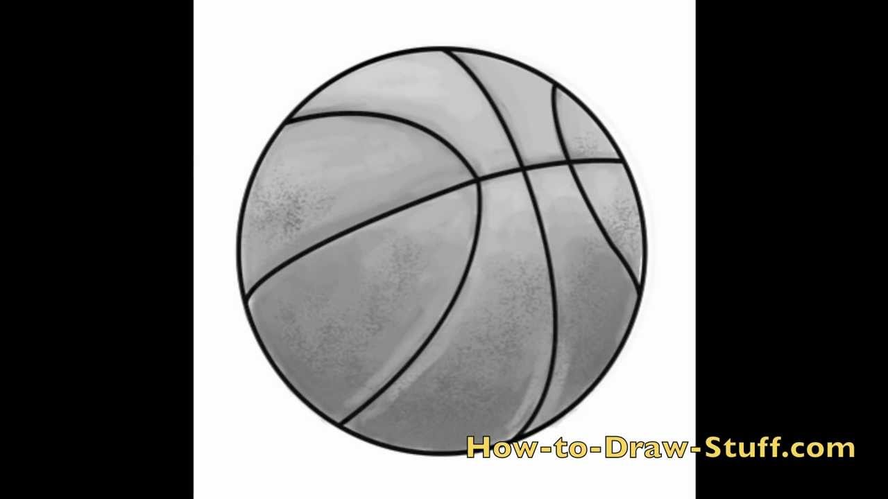 how to draw a basketball step by step