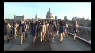 "308 ""nude"" People Walk London Streets !"