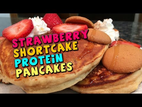 Strawberry Shortcake PROTEIN Pancakes Recipe