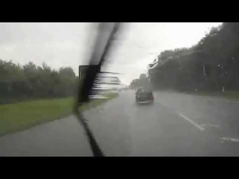 Driving in Torrential Rain Storm Oundle Cambs UK 20th July 2014