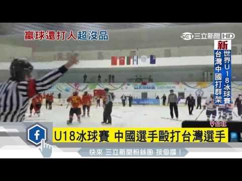 台北冰球赛两岸对打 观众也加入混战(组图)