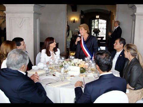 11 de MAR. Lo mejor de la asunción de Michelle Bachelet. Cristina Fernández.
