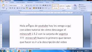 Como Descargar Minecraft 1.5.2 Y Carpeta .minecraft De
