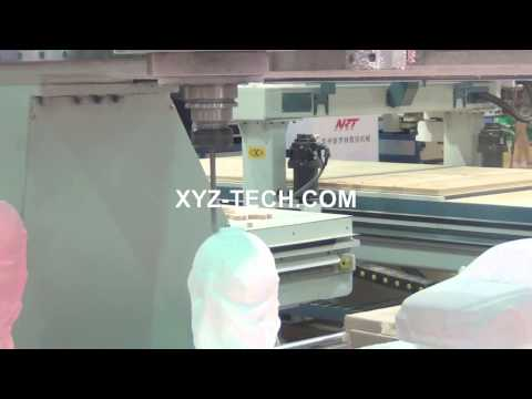 4 axis XYZ 1325 CNC Router (XYZ-CAM,P4-1,C axis)---3D mould worldcup
