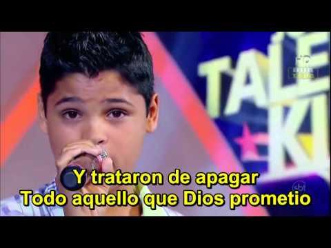 ISAC SANTOS Sementes da fé (semillas de fe) subtituladoJovens Talentos Kids,Raul Gil