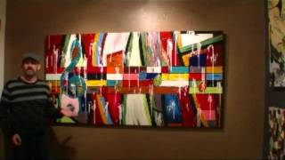 CREATING LARGE ABSTRACT ARTWORK Learn To Paint Acrylic
