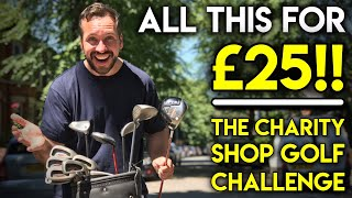 ALL THIS FOR £25!! 😲Charity Shop Golf Challenge