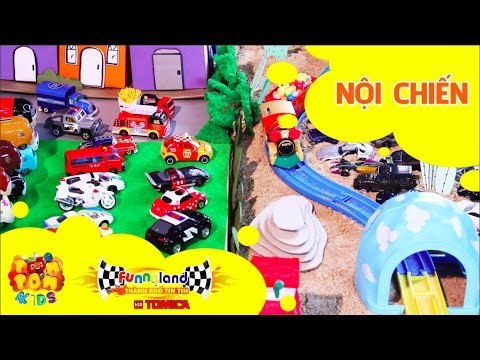 Hoạt hình xe đồ chơi - Thành Phố Tin Tin Tomica - T1: Nội Chiến - Funnyland - POMPOM4kids