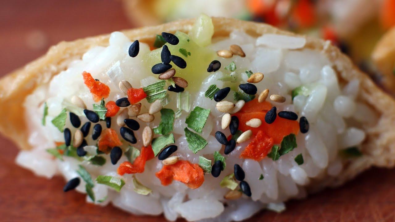 Yubuchobap (Seasoned tofu pockets stuffed with rice: 유부초밥 ...