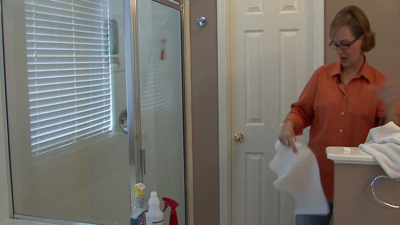 Bathroom Cleaning Tips How To Clean Glass Shower Doors YouTube