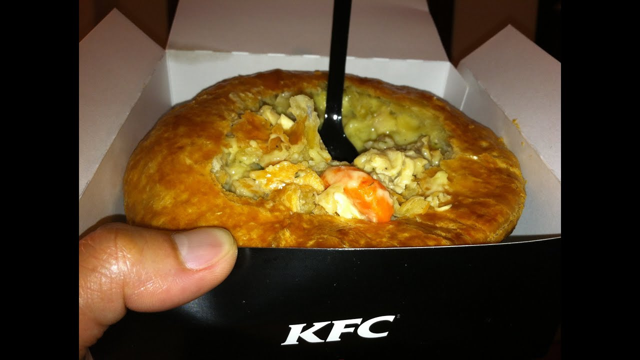 KFC Chunky Chicken Pot Pie Review - YouTube