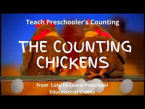The Counting Chickens! Count to 12 with your Preschool Child in English and Spanish.